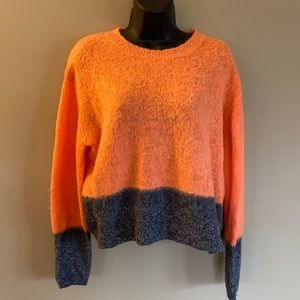 Topshop Orange and Gray Sweater - Size US8